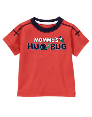 Summer Red Mommy's Little Hug Bug Tee by Gymboree