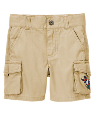 Desert Khaki Beetle Canvas Cargo Short by Gymboree