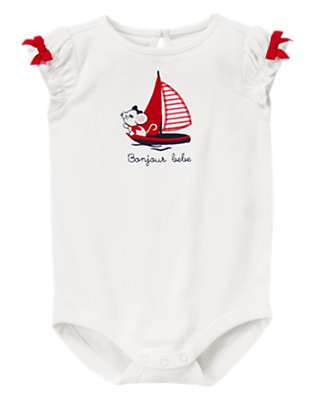 Baby White Sailor Mouse Bodysuit by Gymboree