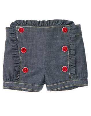 Chambray Double Button Chambray Short by Gymboree