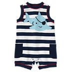 Pirate Shark Stripe One-Piece