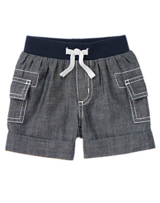Baby Chambray Chambray Cargo Short by Gymboree