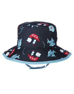 Baby Navy Shark Pirate Shark Swim Hat by Gymboree