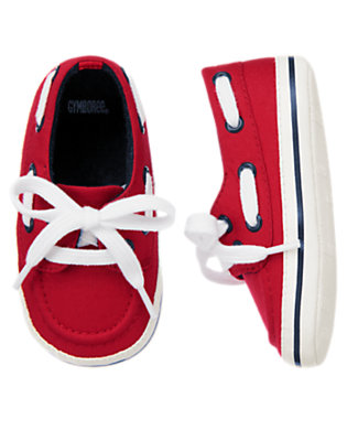 Maritime Red Boat Crib Shoe by Gymboree