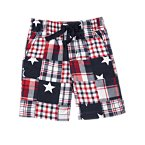 Stars & Plaid Patchwork Short