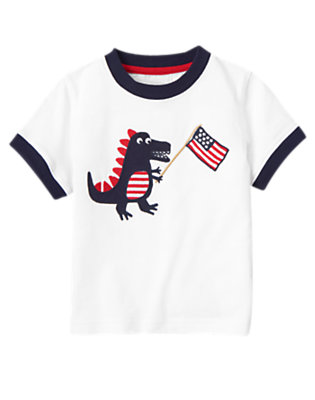 White American Flag Dragon Tee by Gymboree