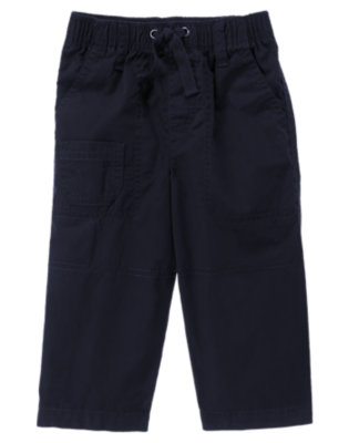 Deep Navy Knee Seam Pull-On Pant by Gymboree