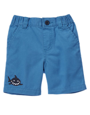Ocean Blue Happy Shark Short by Gymboree