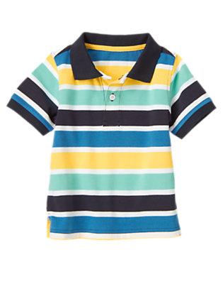 Deep Navy Stripe Stripe Polo Shirt by Gymboree