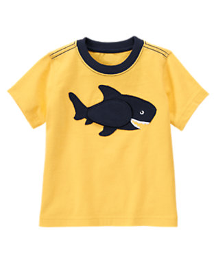 Toddler Boys Sunny Yellow Hungry Shark Tee by Gymboree
