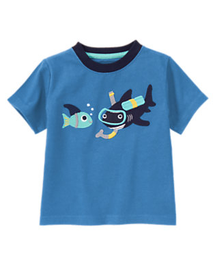 Ocean Blue Snorkeling Shark Tee by Gymboree