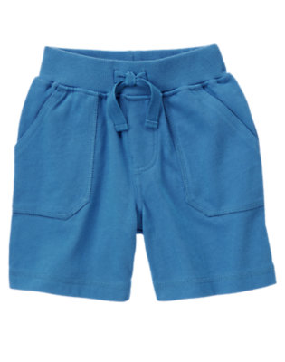 Ocean Blue Pull-On Knit Short by Gymboree