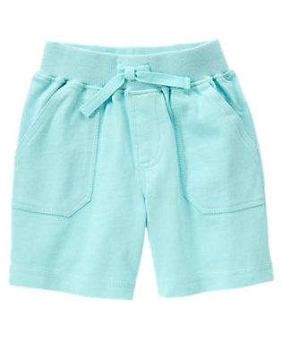 Sky Blue Pull-On Knit Short by Gymboree