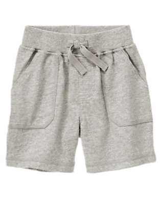Heather Grey Pull-On Knit Short by Gymboree