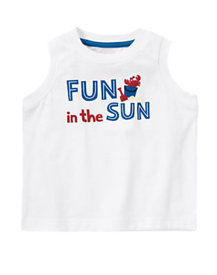 White Fun In The Sun Tank by Gymboree