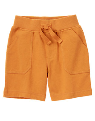 Dusty Orange Ribbed Waist Knit Short by Gymboree