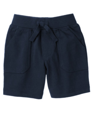 Dark Navy Ribbed Waist Knit Short by Gymboree