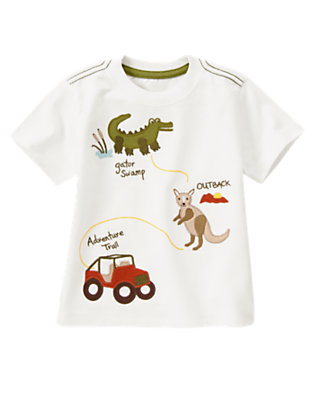 White Adventure Trail Tee by Gymboree