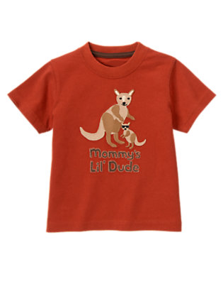 Desert Red Mommy's Little Dude Kangaroo Tee by Gymboree
