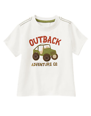 White Outback Adventure Jeep Tee by Gymboree