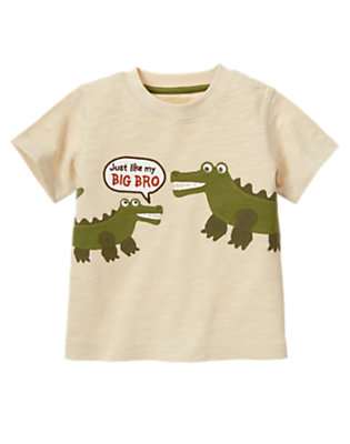 Light Sand Gator Brothers Tee by Gymboree