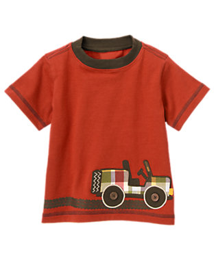 Desert Red Jeep Ringer Tee by Gymboree
