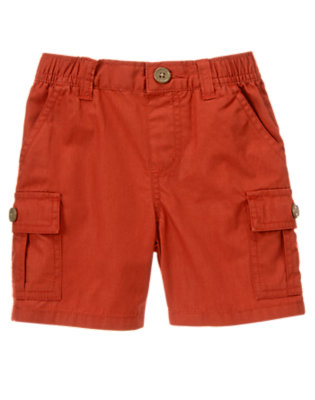 Desert Red Pull-On Cargo Short by Gymboree