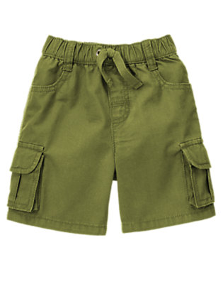 Gator Green Pull-On Ripstop Cargo Short by Gymboree