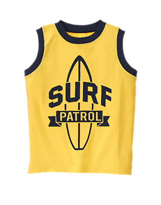 Sunny Yellow Surf Patrol Tank by Gymboree