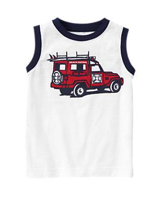 White Beach Patrol Jeep Tank by Gymboree