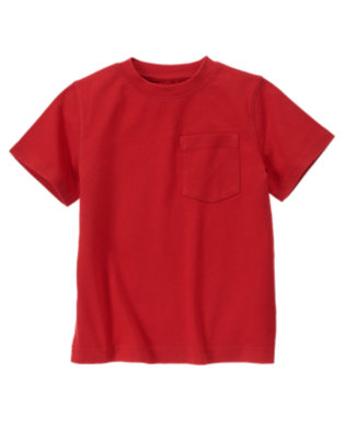 Red Pepper Pocket Tee by Gymboree
