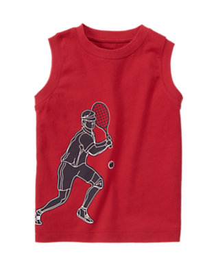 Red Pepper Tennis Player Tank by Gymboree