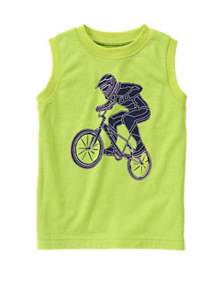 Chartreuse Stunt Biker Tee by Gymboree