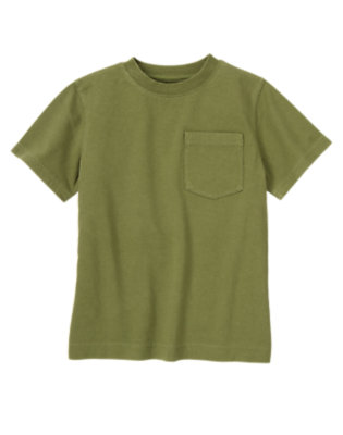 Boys Olive Green Pocket Tee by Gymboree