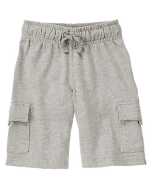 Light Heather Grey Knit Cargo Active Short by Gymboree