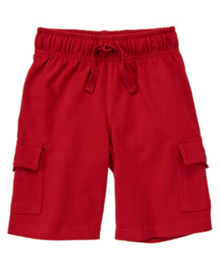 Boys Red Pepper Knit Cargo Active Short by Gymboree