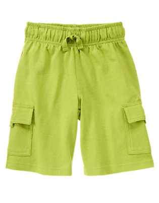 Chartreuse Knit Cargo Active Short by Gymboree