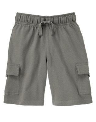 Boys True Grey Knit Cargo Active Short by Gymboree