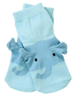 Baby Elephant Blue Elephant Ear Sock by Gymboree