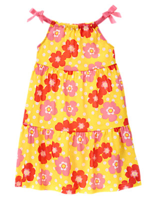 Toddler Girls Hibiscus Yellow Tropical Flower Pajama Gown by Gymboree