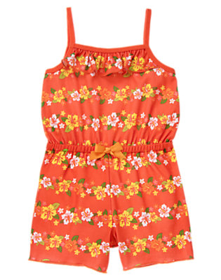 Toddler Girls Island Coral Hibiscus Romper Pajama by Gymboree