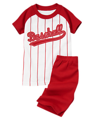 Athletic Red Baseball Shortie Two-Piece Gymmies® by Gymboree