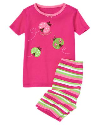 Toddler Girls Fuchsia Pink Ladybug Daydreamer Shortie Two-Piece Gymmies® by Gymboree