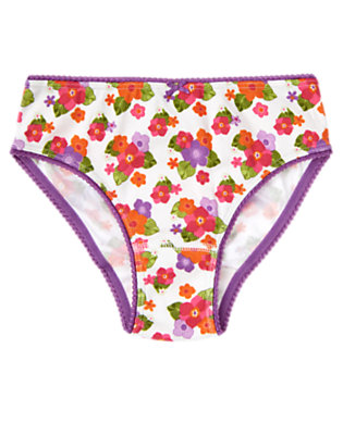 Girls White Floral Tropical Flower Panty by Gymboree