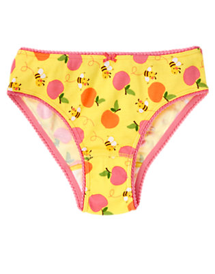 Toddler Girls Yellow Bee Peach Bee Panty by Gymboree