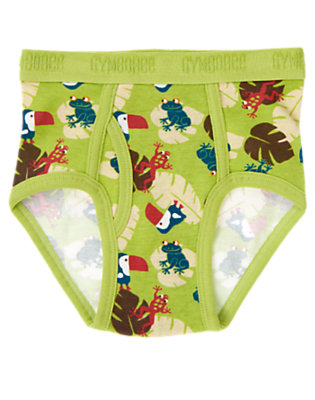 Toddler Boys Palm Green Toucan Frog Brief by Gymboree