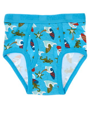 Toddler Boys Turquoise Iguana Surf Island Brief by Gymboree