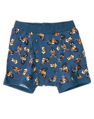 Toddler Boys Blue Motorcycle Boxer Brief by Gymboree