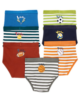 Toddler Boys Gym Navy Sports Brief 7-Pack by Gymboree