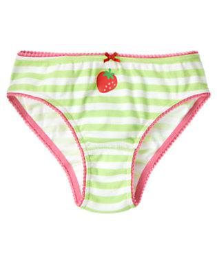 Toddler Girls Mint Green Stripe Strawberry Stripe Panty by Gymboree